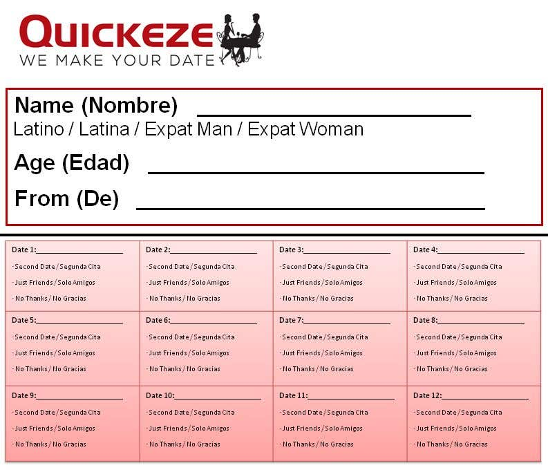 Speed dating scorekort online dating kvinne bashed
