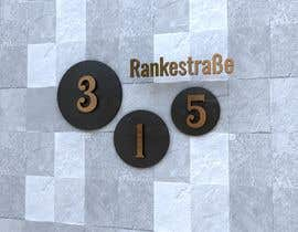 nº 273 pour Design a House number plate from stainless steel and glass par dydcolorart
