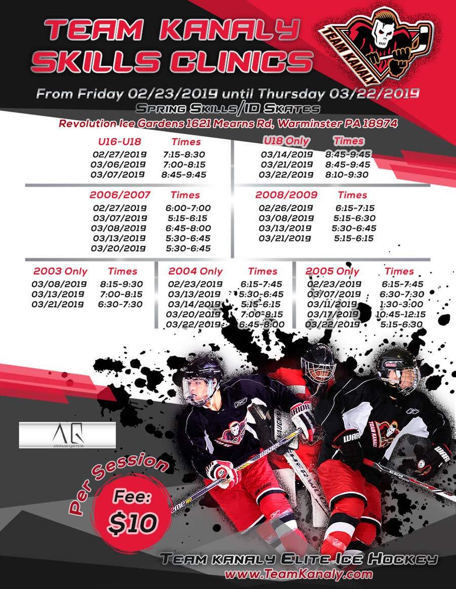 Proposition n°1 du concours TK Hockey Flyer Design