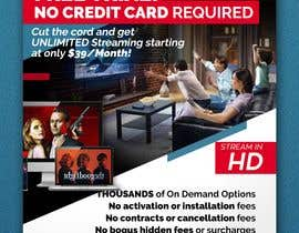 "#35 untuk Design a single sided 4"" X 6"" Flyer for TV Streaming Service oleh akidmurad"
