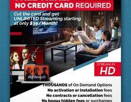 "akidmurad tarafından Design a single sided 4"" X 6"" Flyer for TV Streaming Service için no 35"