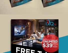 "Pritamm5000 tarafından Design a single sided 4"" X 6"" Flyer for TV Streaming Service için no 23"