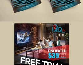 "Pritamm5000 tarafından Design a single sided 4"" X 6"" Flyer for TV Streaming Service için no 40"