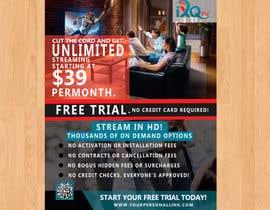 """habibabinteaziz tarafından Design a single sided 4"""" X 6"""" Flyer for TV Streaming Service için no 36"""