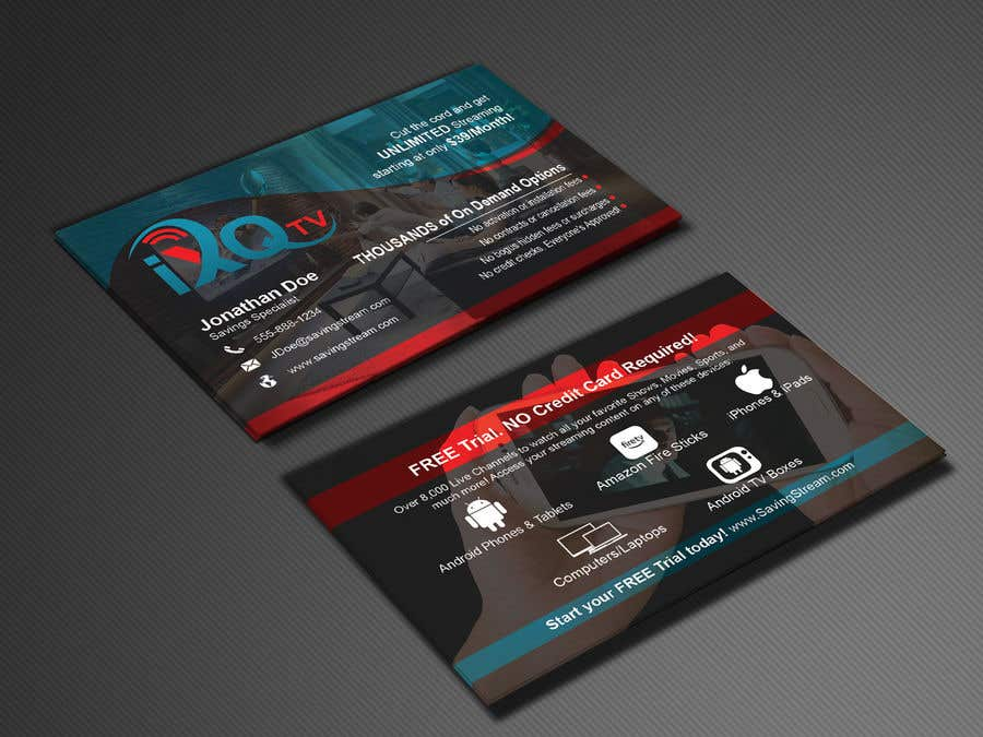 Entry 49 By Abdulmonayem85 For Design Double Sided Business Cards