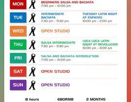 #9 pentru Make a weekly schedule for a dance studio de către craftednstyled