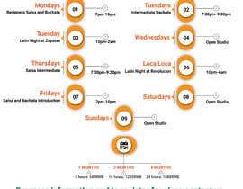 #28 pentru Make a weekly schedule for a dance studio de către sk01741740555