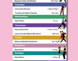 #21 pentru Make a weekly schedule for a dance studio de către denXXIII