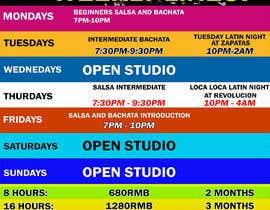 #32 pentru Make a weekly schedule for a dance studio de către JunrayFreelancer