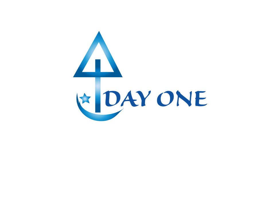Penyertaan Peraduan #25 untuk Logo. Company name is Day One. Logo is combo of the major religious symbols. Cross. Star of David. And moon/Muslim.  With the combo it appears to form a boat. The boat is a symbol of unity and world salvation and peace and harmony.