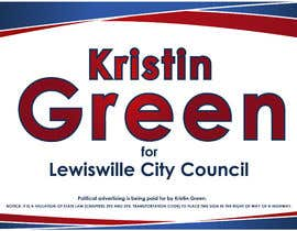 #37 for Campaign Sign Design by MVgdesign