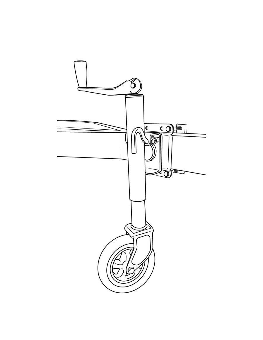 Contest Entry #7 for Line Drawing of Jockey Wheel