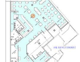 #31 za Restaurant floor plan od arqfernandezr