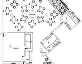 #25 za Restaurant floor plan od Ximena78m2