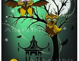 #24 za Funny Looking Owl With Big Eyes In A Dark Environment od ashvinirudrake13