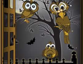 #30 za Funny Looking Owl With Big Eyes In A Dark Environment od ashvinirudrake13