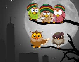 #21 za Funny Looking Owl With Big Eyes In A Dark Environment od jahir2444