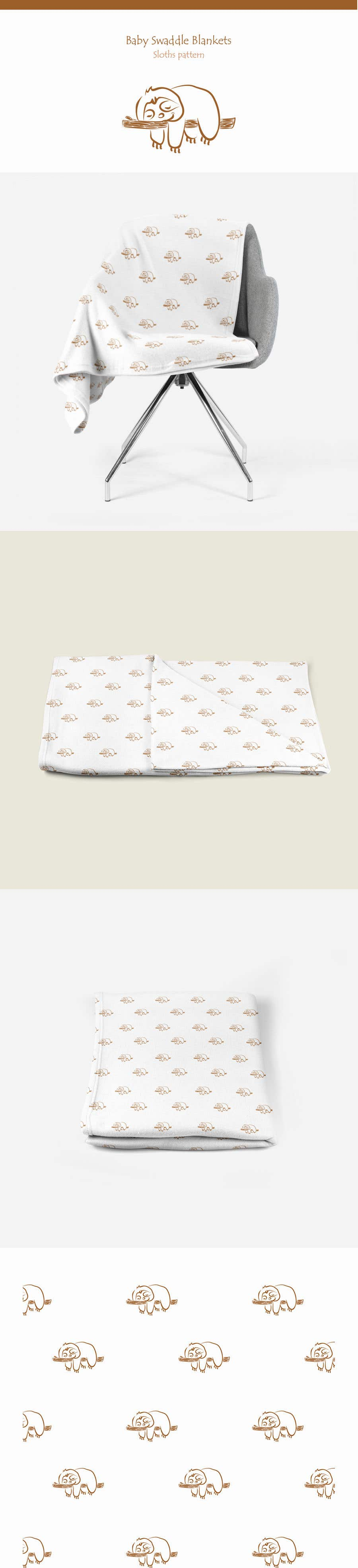 Proposition n°123 du concours Design 3 Baby Swaddle Blankets