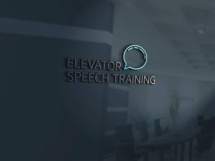 "Inscrição nº 116 do Concurso para logo for ""elevator speech training"""