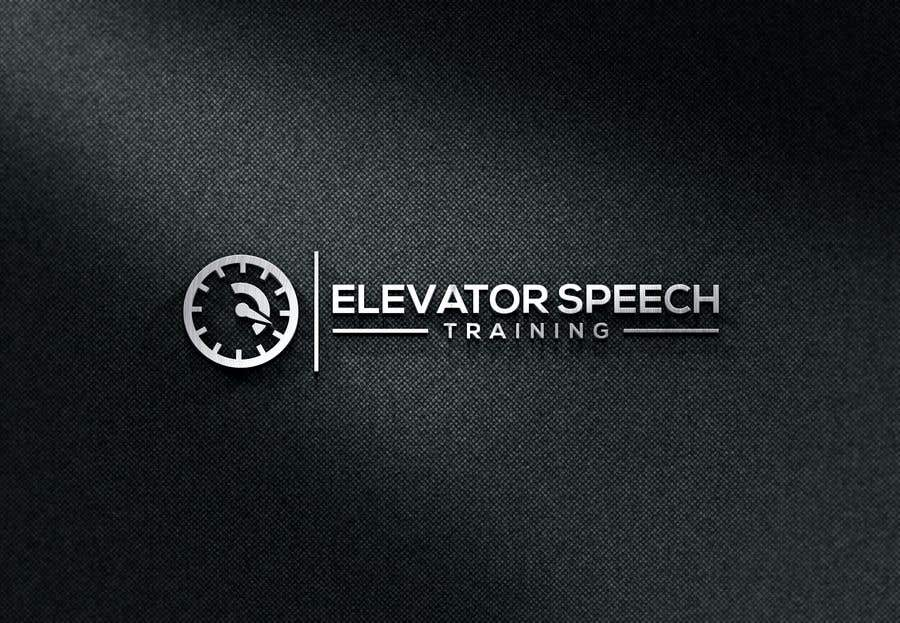 "Inscrição nº 150 do Concurso para logo for ""elevator speech training"""
