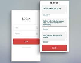#14 for UI for a Quote App av dixitpatel012345