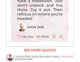 #5 for UI for a Quote App av engshamimhossain