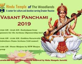 #9 for Vasant Panchami poster av sarasubotic