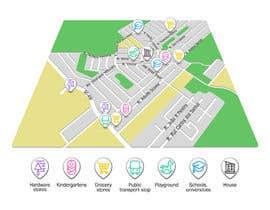 nº 9 pour Design a location MAP for Property Developer par AlbertFlint