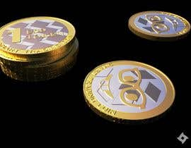#51 for Design a 3D coin (cryptocurrency) with shiny gold surface and reflections! af Legos2112