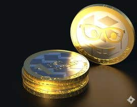 #52 for Design a 3D coin (cryptocurrency) with shiny gold surface and reflections! af Legos2112