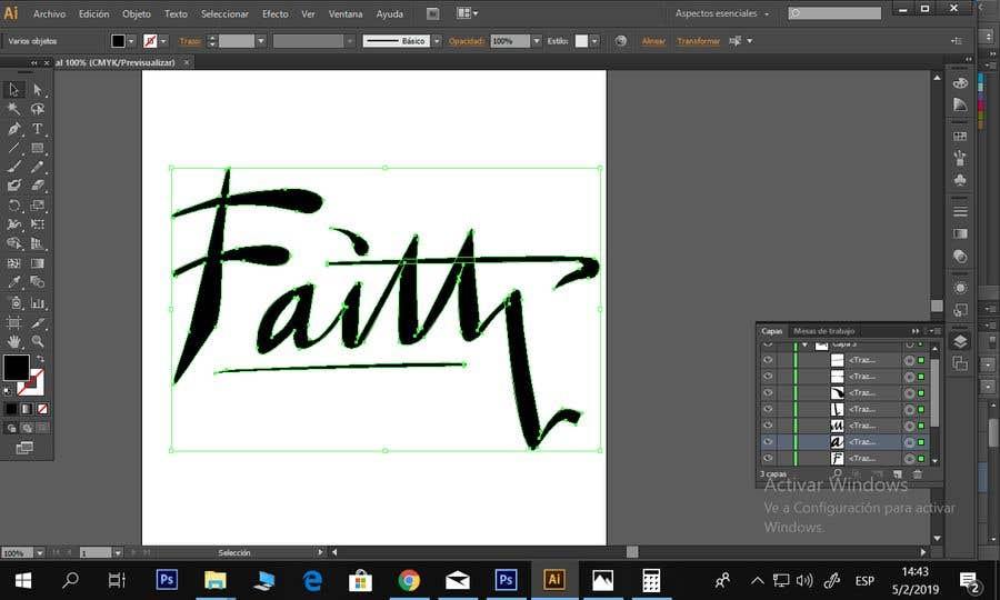 Proposition n°9 du concours Digitize and improve a hand drawn text logo - Faith