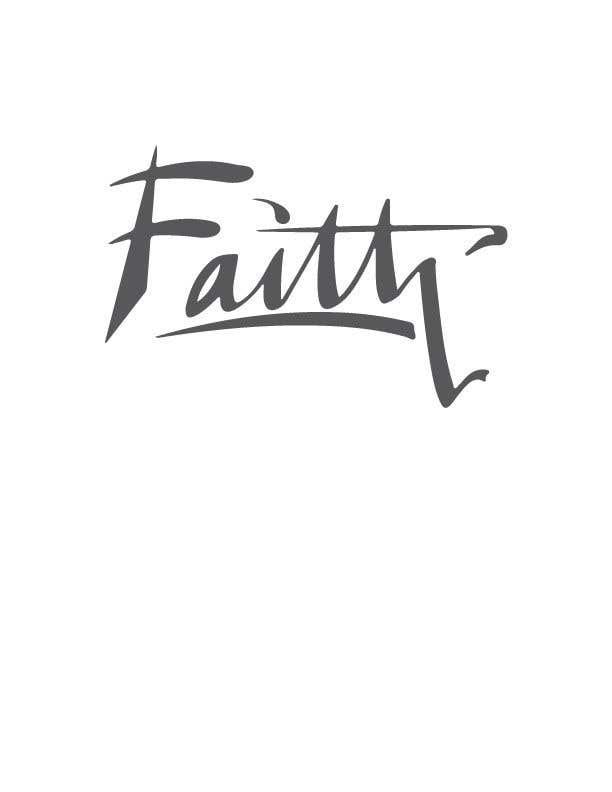 Proposition n°78 du concours Digitize and improve a hand drawn text logo - Faith