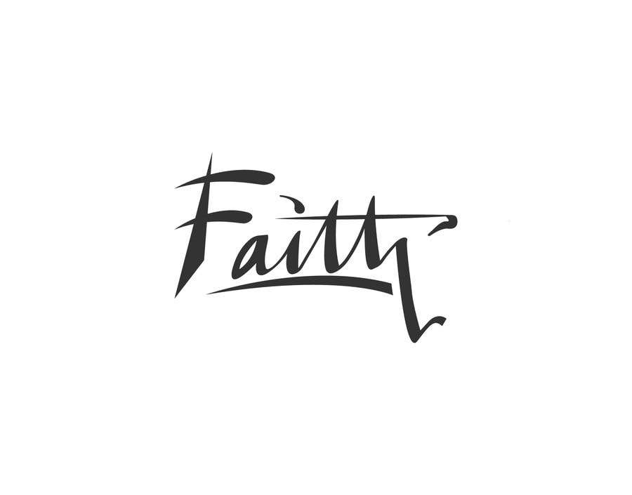 Proposition n°28 du concours Digitize and improve a hand drawn text logo - Faith