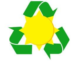 #33 pёr Design a logo for a sustainability business. No business name in the logo. It should have 3 green arrows around a yellow conceptualised flaring sun. The sun flare should be in the centre and the flares emerge from behind the green arrows. nga kalenmcinnes