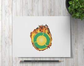 #18 pёr Design a logo for a sustainability business. No business name in the logo. It should have 3 green arrows around a yellow conceptualised flaring sun. The sun flare should be in the centre and the flares emerge from behind the green arrows. nga avarteydiseno