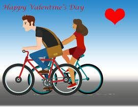 #3 for Create a design for Valentines related with cycling. by Eurynomos