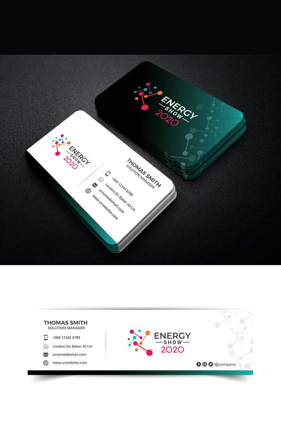 Contest Entry #497 for Business card and e-mail signature template.