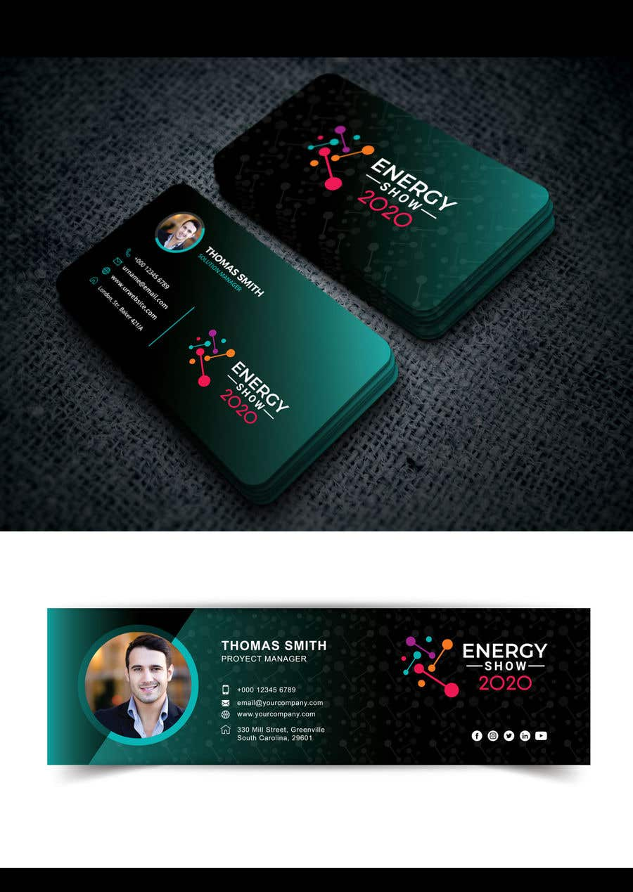 Contest Entry #541 for Business card and e-mail signature template.