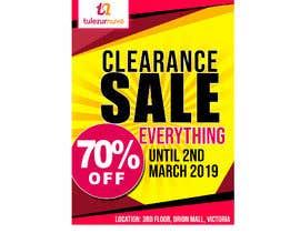 #1 для A Clearance Sale poster of 70% off everything от JunrayFreelancer
