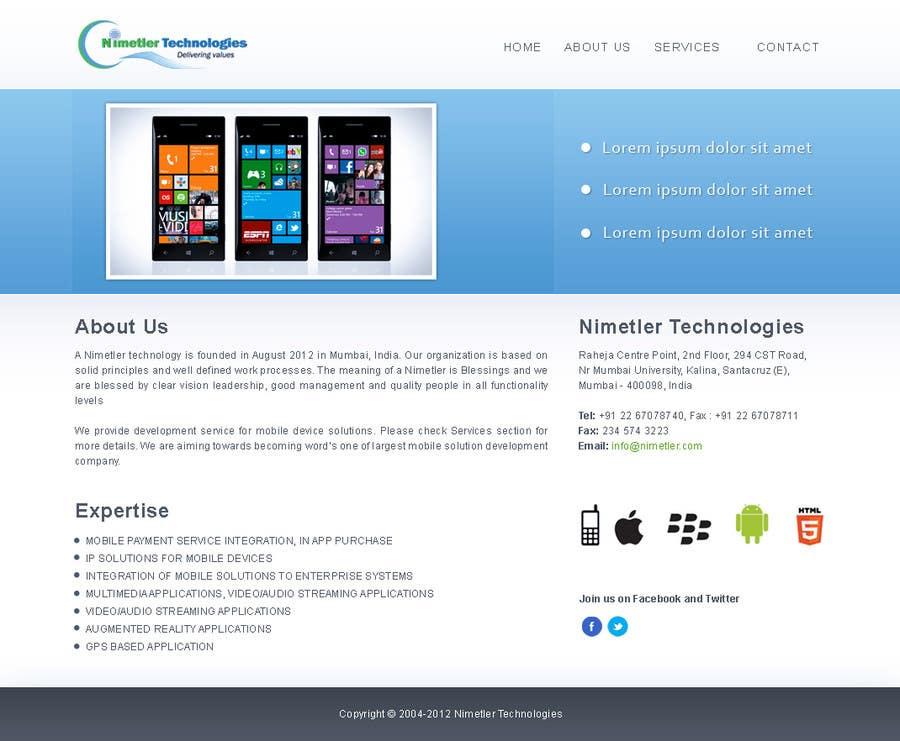 Inscrição nº                                         21                                      do Concurso para                                         Website Design