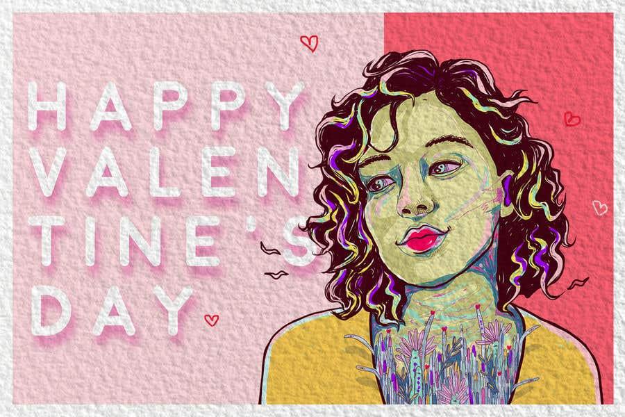 """Intrarea #1368 pentru concursul """"Design the World's Greatest Valentine's Day Greeting Card"""""""