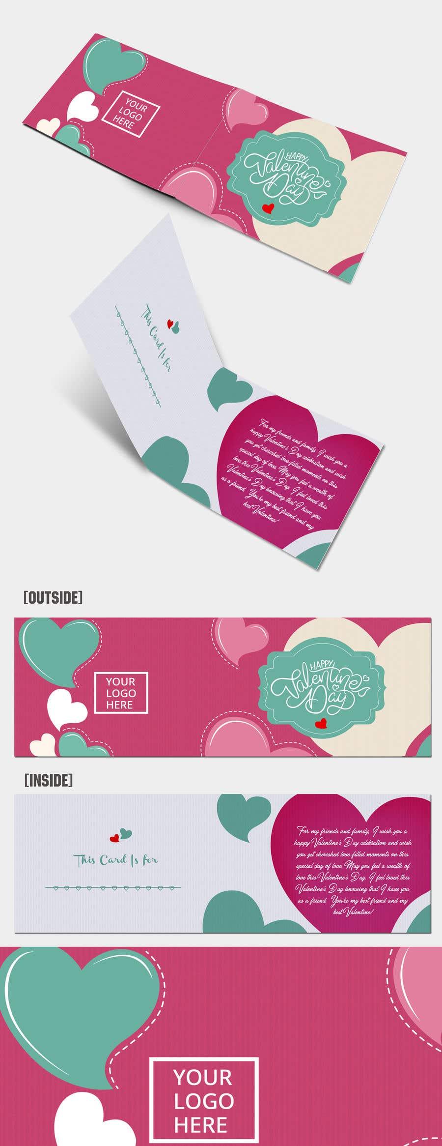 """Intrarea #819 pentru concursul """"Design the World's Greatest Valentine's Day Greeting Card"""""""