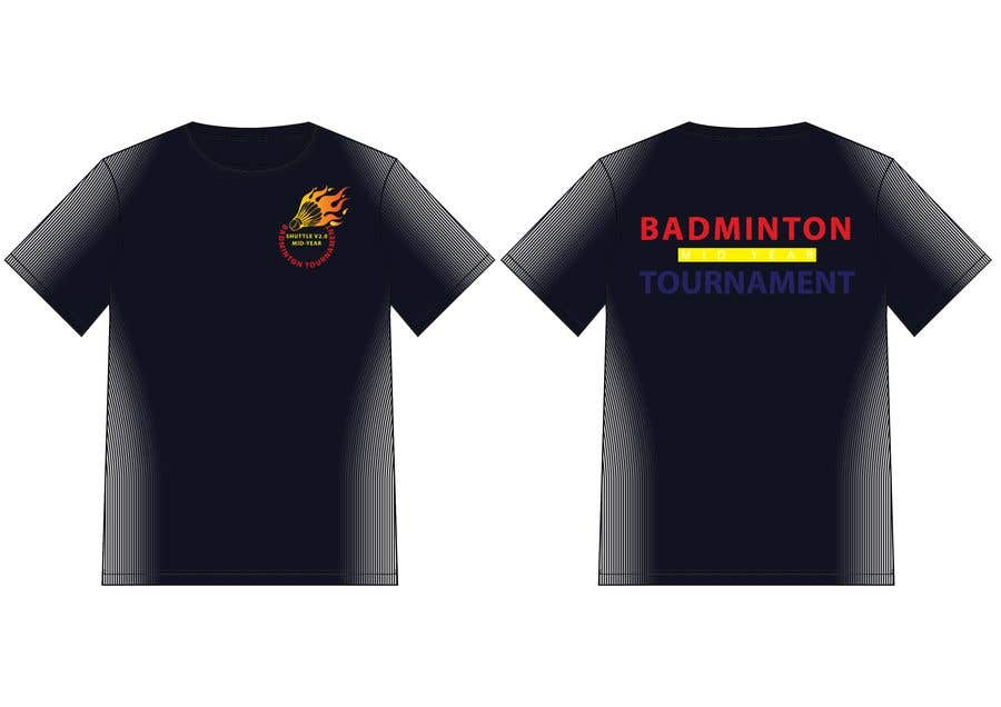 1ff64fe6 Entry #21 by hmahedi640 for T-shirt Design for Badminton Tournament ...