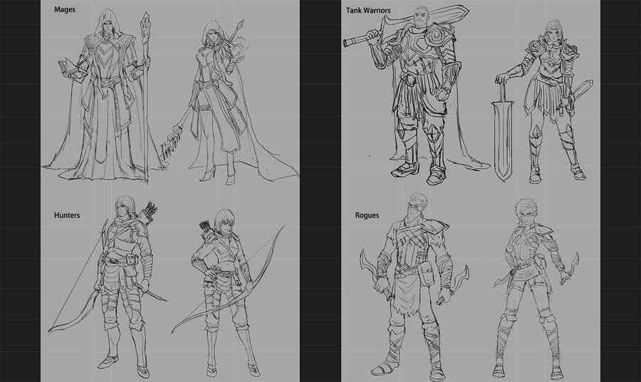 Penyertaan Peraduan #8 untuk Need character artwork for a tabletop game.