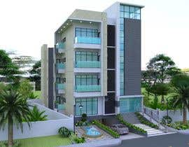 #55 для Improve 3D Building Exterior - Paint, Windows, Balcony, Entrance, Garden от Rinarto