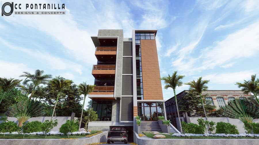 Bài tham dự cuộc thi #89 cho Improve 3D Building Exterior - Paint, Windows, Balcony, Entrance, Garden