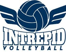 """#4 for Simple and classic volleyball logo for the company name """"Intrepid Volleyball"""" (intrepid means fearless). This must be easily made into shirts and stickers for the business. by guessasb"""