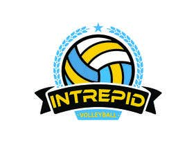 """#14 for Simple and classic volleyball logo for the company name """"Intrepid Volleyball"""" (intrepid means fearless). This must be easily made into shirts and stickers for the business. by Akashkhan360"""