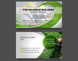 #65 for design double sided business cards - construction by atidoria