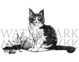 #12 for Illustrate a Cat and Plants on Bottom af SamuelA314